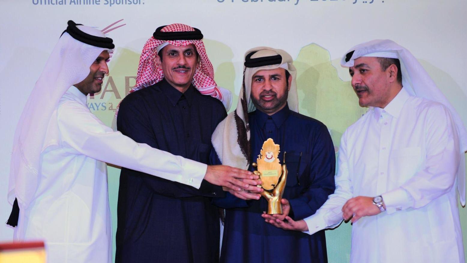حصول سعادة الدكتور / خالد بن إبراهيم السليطي على جائزة أفضل شخصية للمسؤولية المجتمعية لسنة 2019م