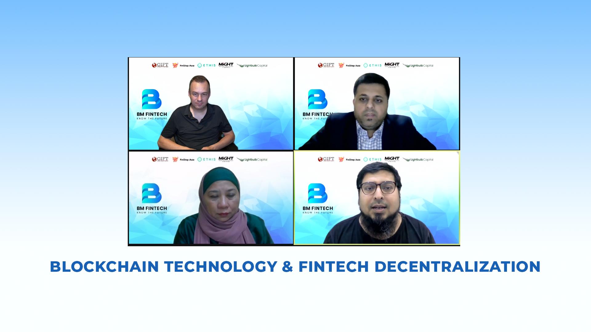 "Bait Al-Mashura organized a new Fintech webinar entitled: ""Blockchain Technology and Fintech Decentralization"""